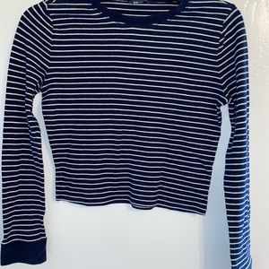 Forever 21. Striped, long sleeve, cropped shirt